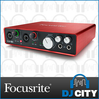 Focusrite Scarlett 6i6 2nd Gen USB Audio Interface 6 in 6 out USB with software