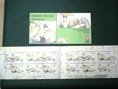 Greenland Stamp Booklet #14 CTO Edible Mushrooms 2006 - EXCELLENT!