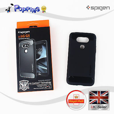 New Genuine Spigen LG G5 Rugged Armor Case Black