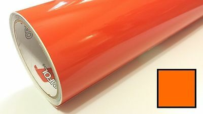 "Gloss ORANGE Vinyl Graphics Decal Sticker Sheet Film Roll Overlay 24"" FAST SHIP"