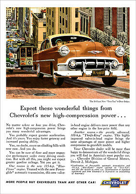 Chevrolet 53 Two Ten Retro A3 Poster Print From Classic Advert 1953