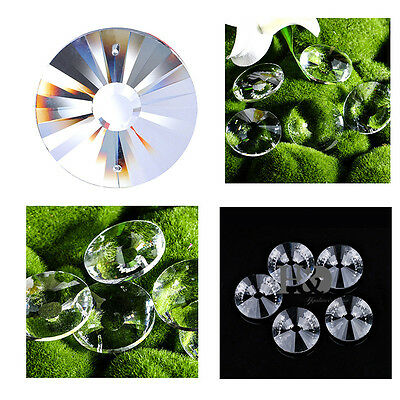 5 Clear Sunflower Suncatcher Glass Crystal Lamp Prisms Hanging Drop Pendant 50mm