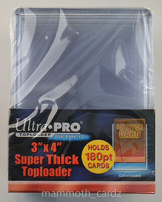 Ultra Pro Toploader Series Super Thick 180pt 1 packet of 10 Brand New