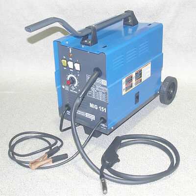 Chicago Electric Mig 151 Welding 230V 120AMP Flux Wire Welder Free Shipping