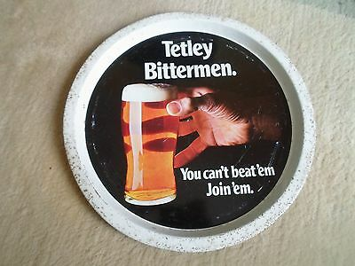 Vintage Beer Tray Advertising TETLEY'S BEER - Retro Home Bar