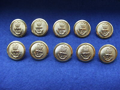 10 X Naval 24Mm Buttons, Ideal For Theatre,film Wardrobe, Costume, Tailors, Tks