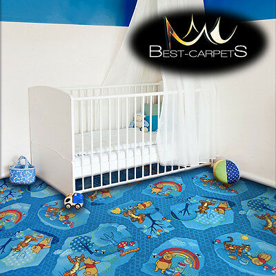 CHILDREN'S CARPET WOODLAND WINNIE THE POOH Kids Play Area Bedroom Rug ANY SIZE