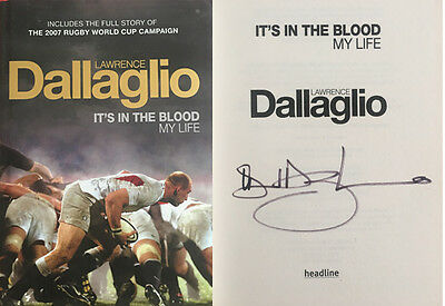 Lawrence Dallaglio Signed 'it's In The Blood' Autobiography Rugby Book