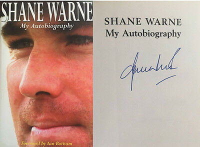 Shane Warne Signed 'my Autobiography' Book