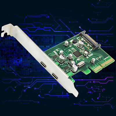 LA31-12C PCIe X4 To 2Ports USB3.1 Type-C 4Pin Expansion Card Chipset ASM1142 AU