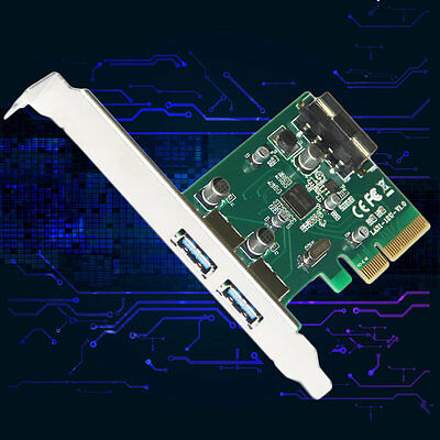 2 Ports 10Gbps USB3.1 Type A PCIe Express X4 Expansion Card LA31-12U ASM1142 AU