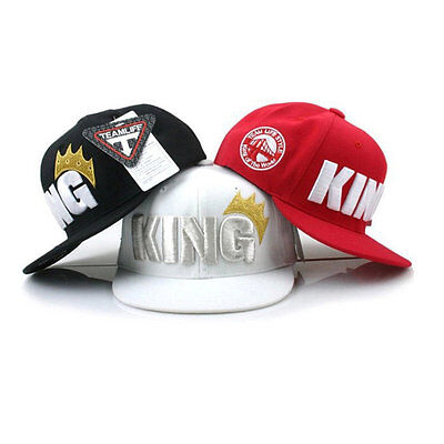 Children Boys Girls King Letter Crown Baseball Cap Adjustable Brimmed Hats AU