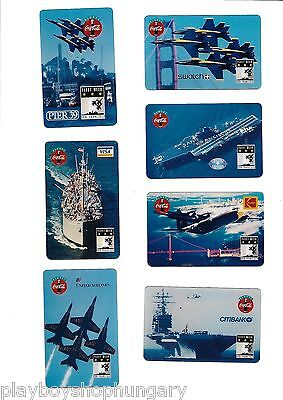 7 x TK USA - Telefonkarte - Phonecard set - COCA COLA & SWATCH - FLEET WEEK 1995