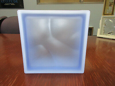 Blue Wavy Satin Pegasus Glass Blocks (5 Pack) 19 x 19 x 8 cm