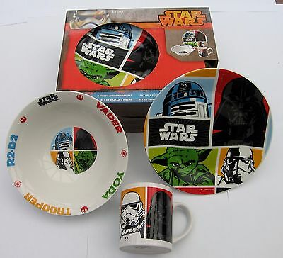 New In Box Ceramic Star Wars Dinner Set Dish, Plate, Cup ,a Great Gift L@@k