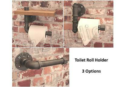 "INDUSTRIAL PIPE TOILET ROLL HOLDER Choose Design Heavy Duty Top Quality 3/4"" NEW"