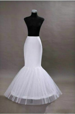 New White Black Fishtail Mermaid Skirt Wedding Dress Crinoline Petticoat Slips
