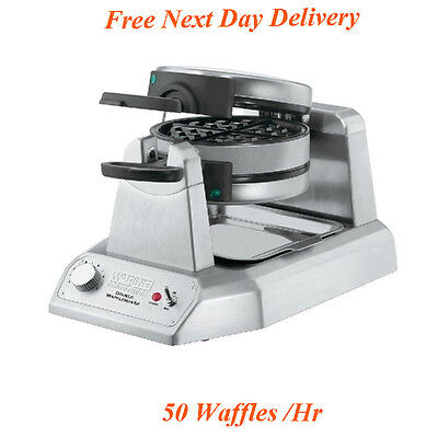 Waring Double Belgian Commercial Waffle Maker Machine @Free Next Day Delivery