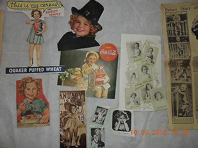 SHIRLEY TEMPLE CLIPPINGS 1930's