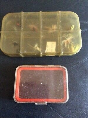 Two Old Fly Fishing Boxes.