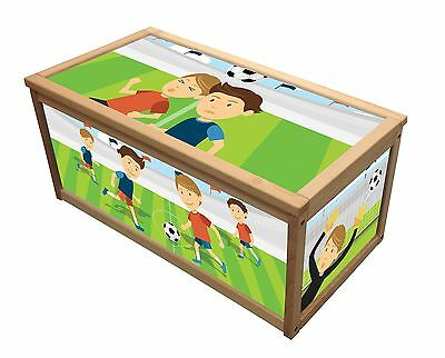 Football Wooden Toy Box / Storage Unit For Children Boys Kids Toys Chest Boxes
