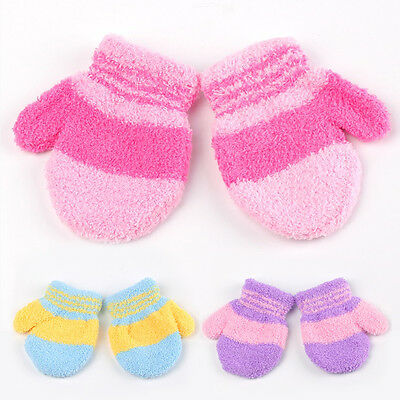 Fashion Baby Toddler Kids Warm Winter Full Finger Gloves Mittens Xmas Gifts