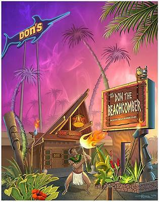 Don the Beachcomber-Fire Dancer Print by Doug Horne
