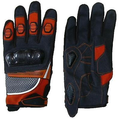 Moto-Cross Handschuhe Enduro Kart Bike f. Kind orange Neu !