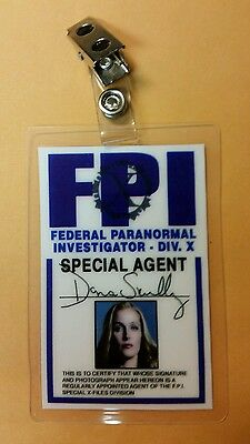 X-files TV Series ID Badge-Dana Scully Miniseries costume prop cosplay