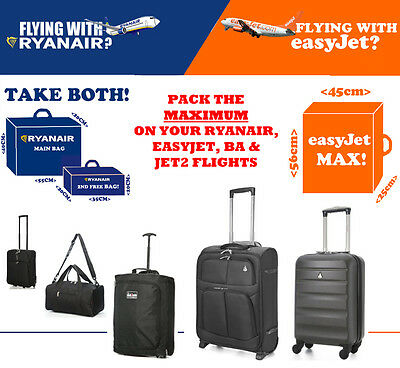 Ryanair Easyjet British Airways Ba Max Main Cabine Bagages Valise 55x40x20
