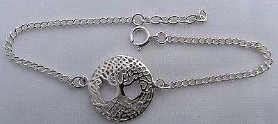 Sterling  Silver  925  Tree  Of  Life  Wrist  Bracelet   !!      Brand  New  !!