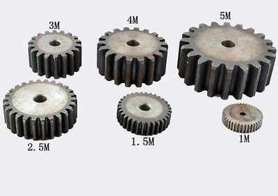 1Pcs Motor Gear Spur Gear 5.0Mod 50Tooth 45# Steel Thickness 40mm