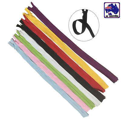 10pcs 40cm Invisible Zip / Zipper Nylon Closed End Tailor Sewer Craft TZIP334