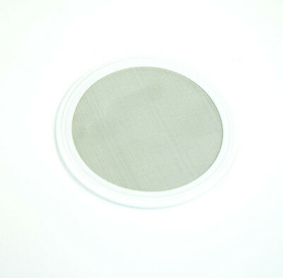 """4"""" w/100 Mesh Sanitary PTFE Tri-Clamp Screen Gasket,Stainless Steel SS304L"""