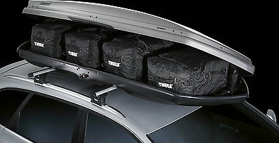 Thule 8006 Go Pack Roof Box Luggage Bag Set (4) Includes Shaped Front Nose Bag