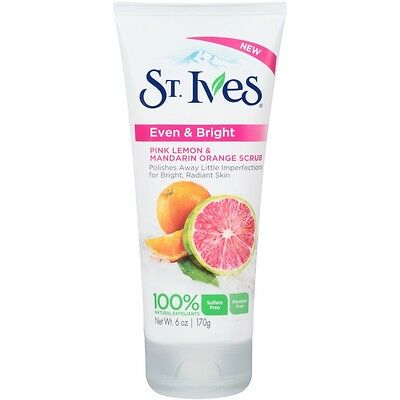 St Ives Scrub, Even & Bright Pink Lemon & Mandarin Orange 6 Ounce, New Beauty