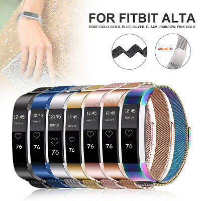Replacement Magnetic Stainless Steel Wristband Strap Bracelet For Fitbit Alta HR