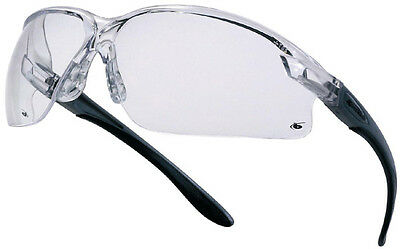 Bolle AXIS safety glasses with CLEAR Anti Scratch lens & adjustable temples 27g
