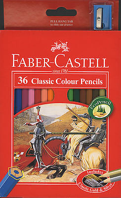 Faber-Castell - 36 Classic Colour Pencils - Includes Classic Gold And Silver