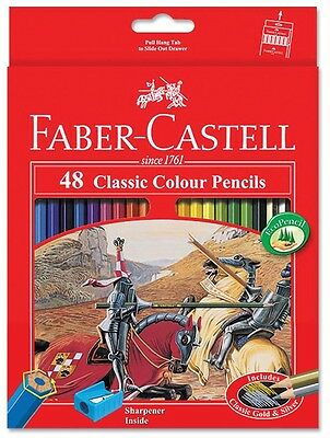 Faber-Castell - 48 Classic Colour Pencils - Includes Classic Gold And Silver