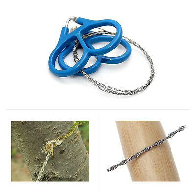 60cm Wire Outdoor Saw Rope Stainless Steel Emergency Tools Hiking Hunting Kit
