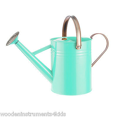 Metal watering can 1 gallon (4.5 litres) blue vase small child size
