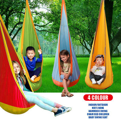 Kid Children Inflatable Hammock Pod Hanging Swing Seat Chair Outdoor Yard New