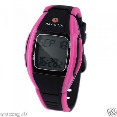 Sports Watch Heart Rate Monitor uses HR Strap for Accuracy Pink Laser NEW RRP$49