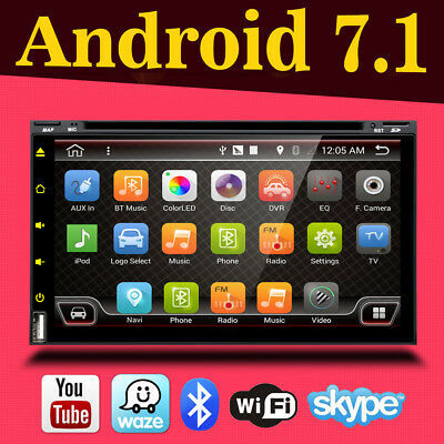 Doppel 2 Din Autoradio DVD GPS Navi 3G WiFi Android 6.0 USB MP3 SD CD Player+Cam
