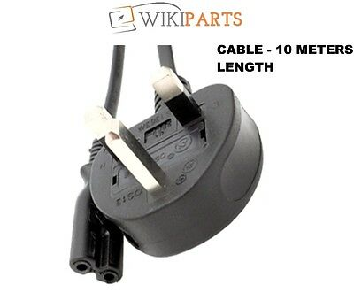 UK Mains 32ft Cable Cord For HP Deskjet 2054a 2510 2512 2514 2540 Printer-10M