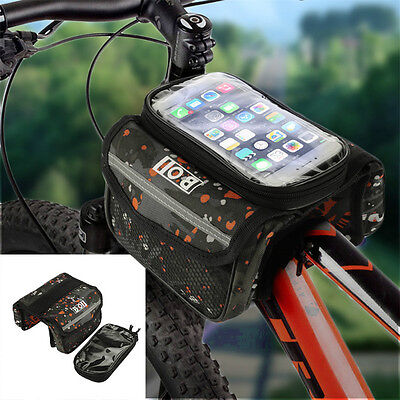 CYCLING BIKE BICYCLE FRAME For IPHONE HOLDER PANNIER MOBILE PHONE CASE BAG POUCH