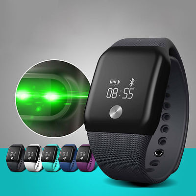 Heart Rate Monitor Smart Watch Bluetooth Bracelet Wrist Band Pedometer Tracker