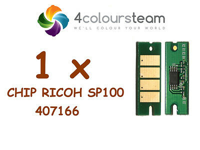 1x TONER RESET CHIP FOR RICOH Sp100 SP 100 SP112 SP100SF  407166  Nashuatec