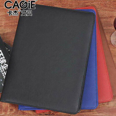 A4 Size Multi Function PU Leather Document File Folder Card Pen Holder Clip Pad